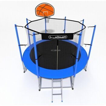 БАТУТ I-JUMP BASKET 6FT 1,83м  с нижней сетью и лестницей (blue)