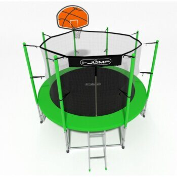 БАТУТ I-JUMP BASKET 6FT 1,83м  с нижней сетью и лестницей (green)